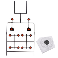 Shooting Target Auto Reset Spinning Target Stand with 20 Paper Targets Spinning Shooting Practice Shooting Target