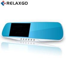 Relaxgo 4.3inch Car Camera Mirror Full HD 1080P Car Rearview Mirror Camera Video Recorder Car DVR 2 Camera Parking Night Vision
