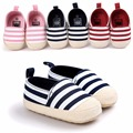 [Bosudhsou] R-19 Kids Baby Boys Girls Stripes Anti-Slip Sneakers Soft Bottom Shoes First Walkers Children Clothing