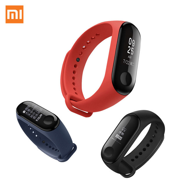 IN STOCK New Original Xiaomi Mi Band 3 Smart Bracelet Black 0.78 inch OLED miband 3 Instant Message Call Weather Forecate