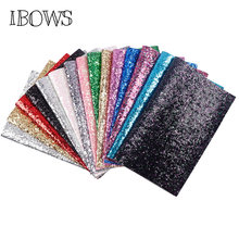22CM*30CM Chunky Glitter Fabric Shiny Laser Sequins Patchwork DIY Bag Shoes Accessories Fabric Handmade Phone Case Material(China)