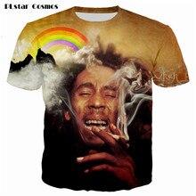 PLstar Cosmos tops 2017 summer fashion t-shirt Women/Men t shirt Reggae Star Bob Marley 3d shirts hip hop tshirt size S-5XL