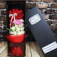 O festival qixi 33 cor da flor do valentim bouquet sabão fabricantes que vendem um wechat explosão em nome de