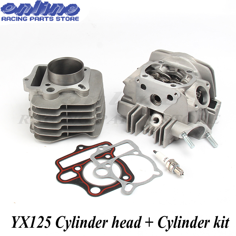цена на Motorcycle Engine Cylinder Barrel Head & Cylinder Gaskets Kit for YX125 125CC Atv Bike OEM