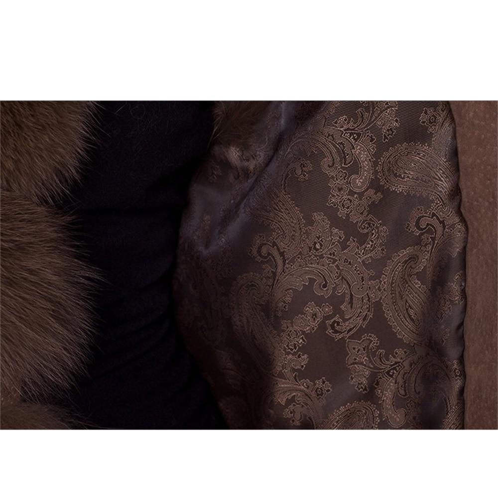 Manteau brown White Renard Sans Naturel De Réel gris L'ensemble Gilet Manches Bouton Naturelle D'hiver Fourrure rose Wisstt Véritable Standard Femmes waT0qI