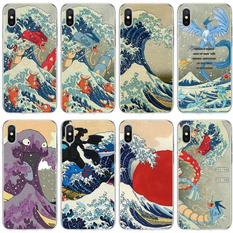 The Great Wave Off Kanto pokemon ??????? 2019 TPU ?????????????????? iPhone 5 5 S 5C SE 6 6 plus 7 8 plus X XS XR XS Max