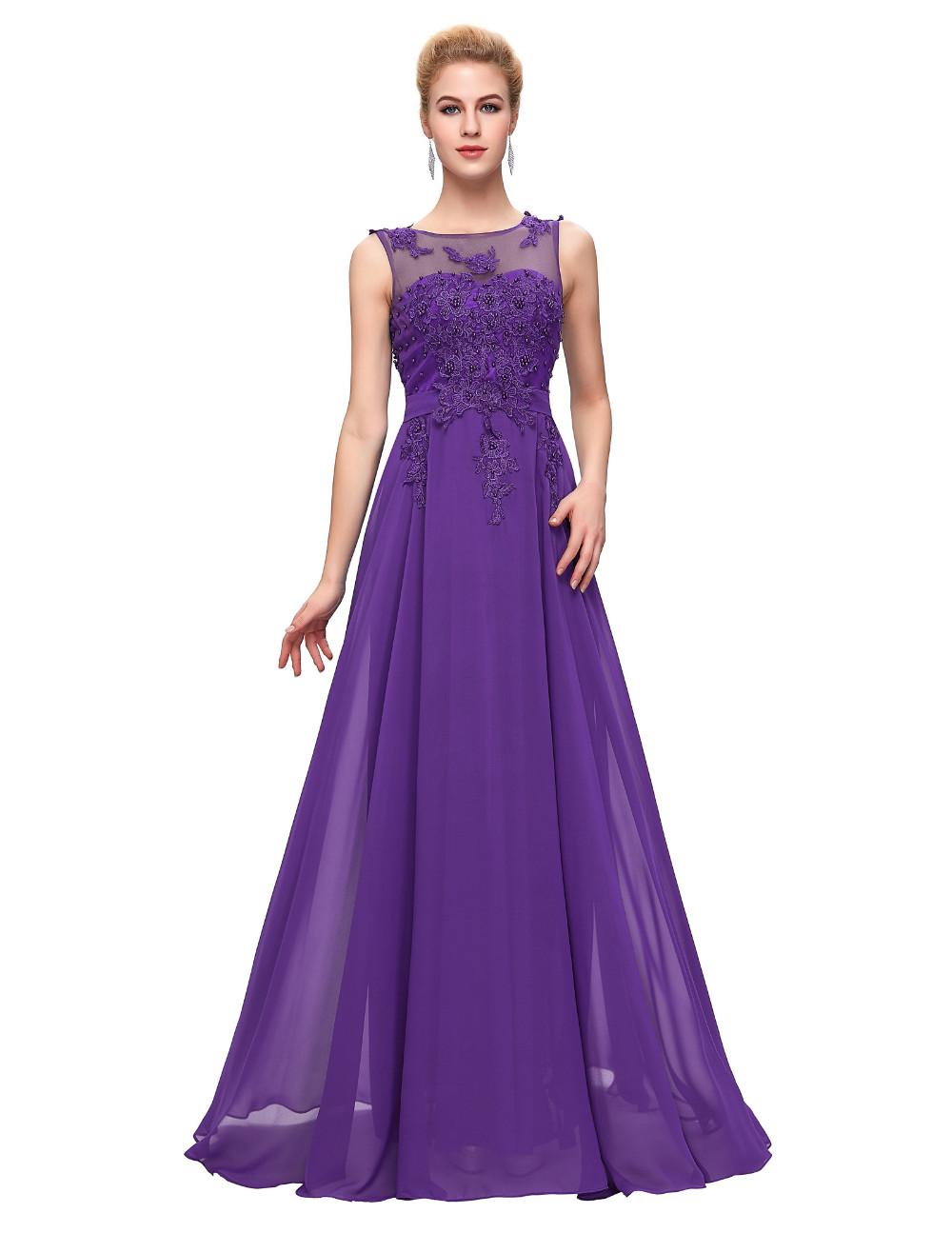 Grace Karin Elegant Long Evening Dresses 2016 Chiffon Pink Purple Red Royal Blue Black Formal Evening Dress Gown Abendkleider 33