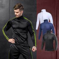 Men Workout Sporting Fitness Tops Coat Runs Quick Dry Compression Exercise Sweatshirt Hoodie Thicken Cashmere Jacket MA56