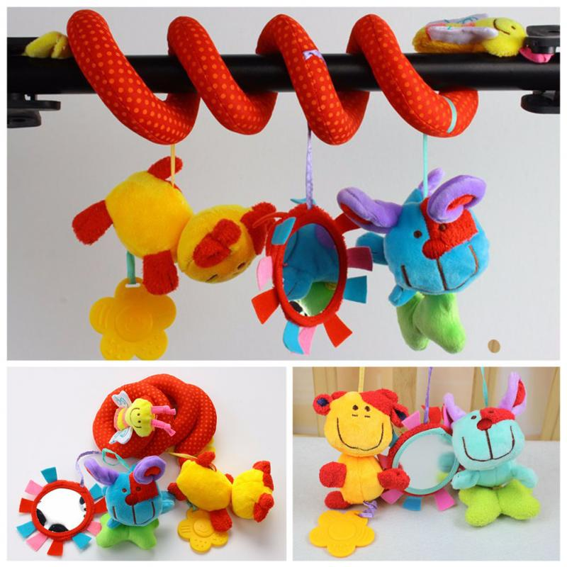 Spiral Activity Stroller Car Seat Cot Lathe Hanging Baby Play Travel Toys Newborn Mobile Baby Rattles Infant Toys Musical