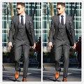 High Quality Men's Dinner Party Prom Suits Groom Tuxedos Groomsmen Wedding Blazer Suits (Jacket+Pants+Vest+Tie) NO:1314