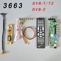 Универсальная плата для ЖК-драйверов DS.D3663LUA.A81.2.PA V56 V59  поддержка ТВ-панели с 7 клавишами  ИК  инвертор с 2 лампами  LVDS 3663