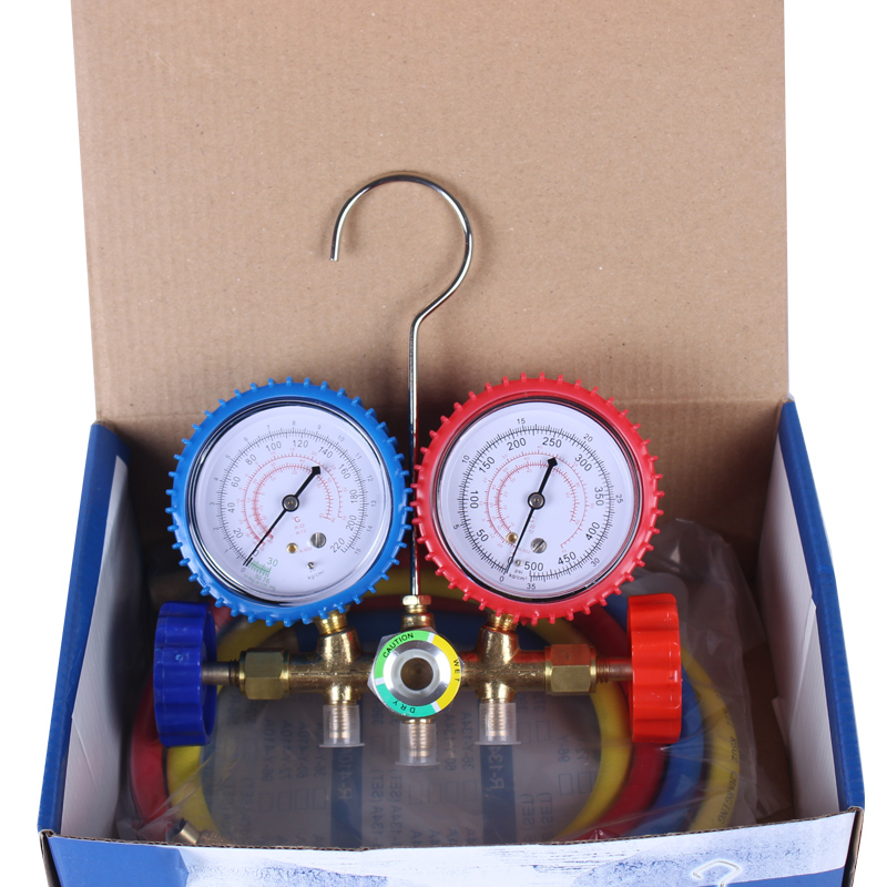 Refrigerant Gauge Manifold Diagnostic Refrigerating Manometers Air Conditioning Manifold Manometer Manifold AC Refrigerant Tool