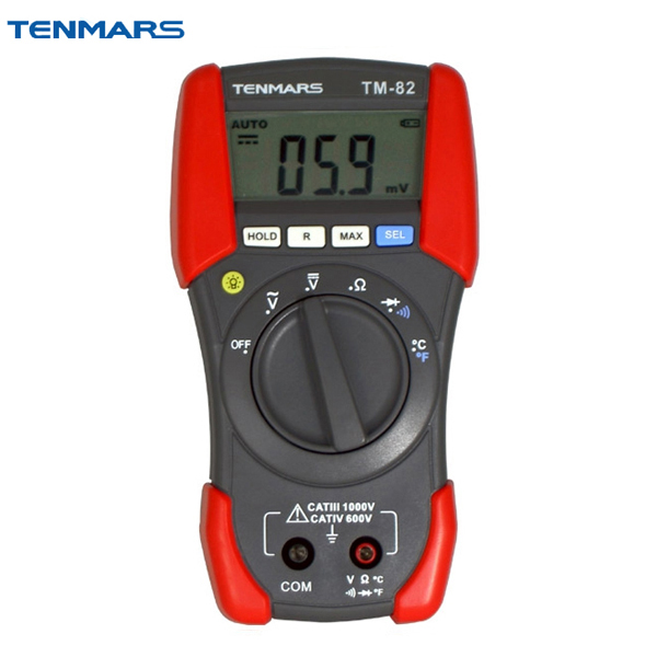 TENMARS TM82 Multimeter LCD Backlit Display, with maximum reading of 1999 tm 204 light meter with 3 1 2 digits lcd with maximum reading 2000