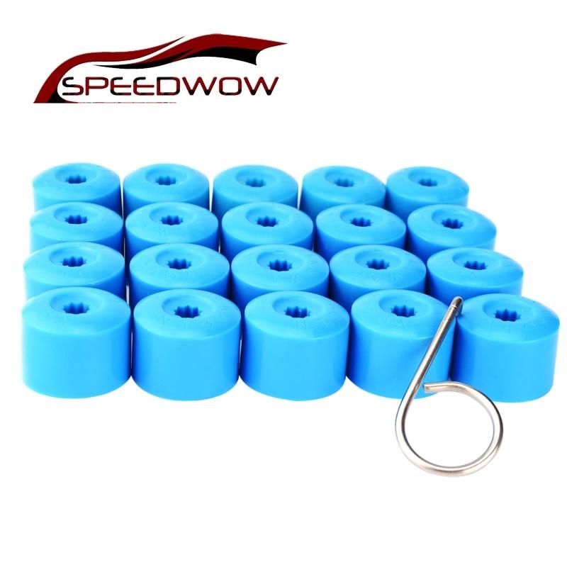 Speedwow 20 штук колеса автомобиля концентратора винтовой крышкой 17 мм колеса болт гайка крышка головки Кепки колесо винт Болты украшения защит...