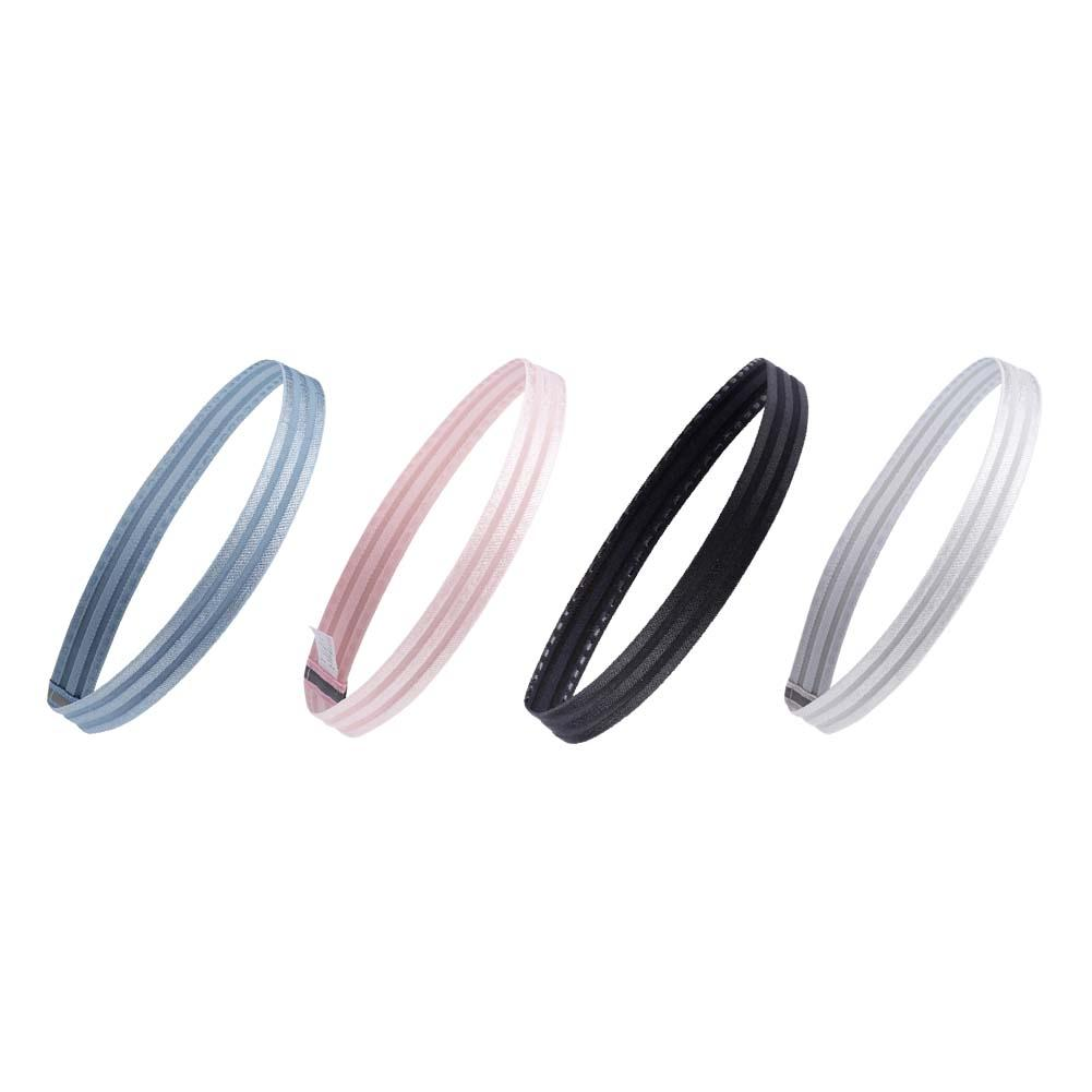 4 Colors Fashion Modern Non-Slip Sports Headband Sweat-Absorbent Hair Band Elastic Silicone Sweatband for Running Fitness Yoga