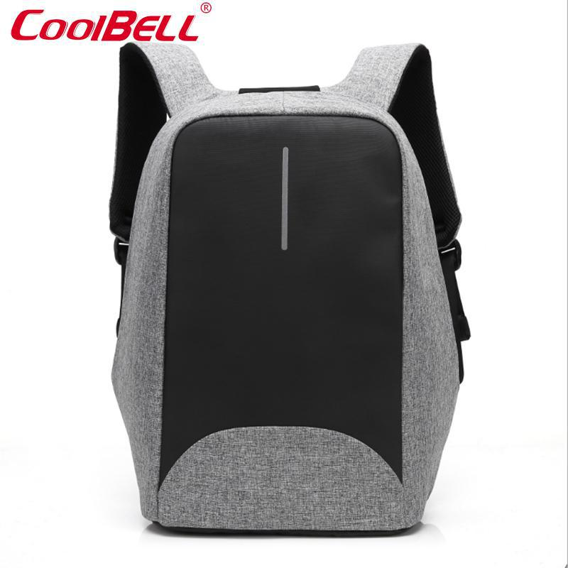 Cool Bell Waterproof 15 6 Inch Laptop Backpack Anti theft Business Backpack External Usb Charge Notebook
