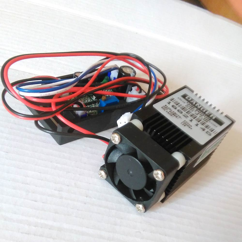 ФОТО Focus Mini 1W 445nm Blue Laser Module 1000mW Engraving Laser Diode Lens