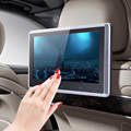 10 Inch 16:9 Car LCD Touch Screen Headrest Monitor Video Player Support 32G SD Card with Remote Controller + Mount Bracket
