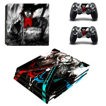 8 Styles One Piece Anime Design Sticker for Sony Playstation 4 Pro PS4 Pro Promotion Console +2Pcs Controller Protective Flim