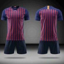 2019 mens football jerseys match suits blank soccer uniforms short-sleeved sports team training custom