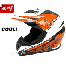 (1pc) Top Professional DOT Approved Anti-UV Windproof Breathable Motocross Helmets Capacete Motorcycle Casco Helmet KTM Quality