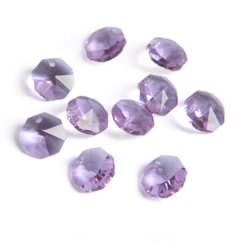 50/lot 14mm Various Colors Crystal Octagon Beads In 1 Hole For  Home Curtain Decoration  Chandelier Parts Accessories 2000 lot 14mm colorful crystal glass beads in 1 hole for crystal chandelier parts home decoration