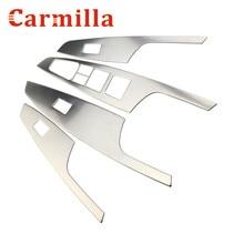 Carmilla 4X автомобиля Нержавеющая сталь межкомнатных дверей стеклоподъемник Панель Стикеры для LHD Hyundai Tucson 2015 2016 2007 Интимные аксессуары