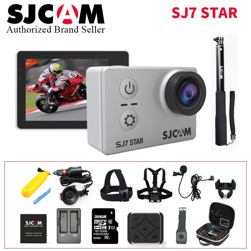 SJCAM SJ7 estrella Wifi acción Cámara Ambarella A12S75 4 K 30fps Gyro 2,0 pulgadas pantalla táctil videocámara deporte buceo SJ 7 Mini DV CAM