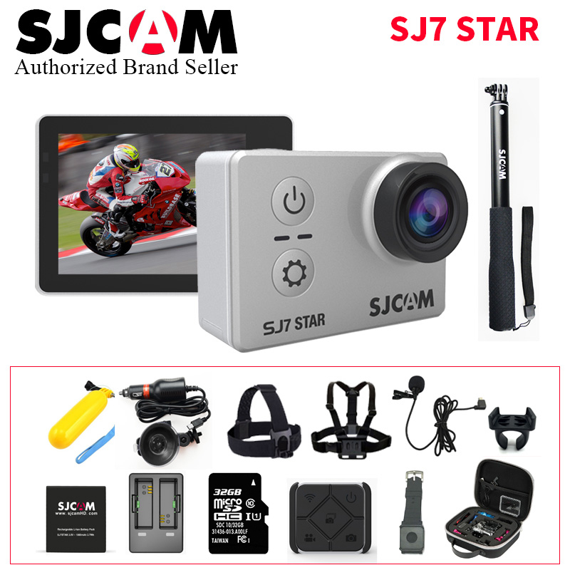 SJCAM SJ7 Star Wifi Action Camera Ambarella A12S75 4K 30fps Gyro 2.0 Inch Touch Screen Sport Camcorder Diving SJ 7 Mini DV CAM