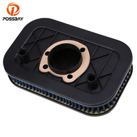 POSSBAY Motorcycle Air Filter Cleaner Scooter Moto Air Intake Dirt Filter for Harley Sportster 883 1200 2004 2011 2012 2013 2014