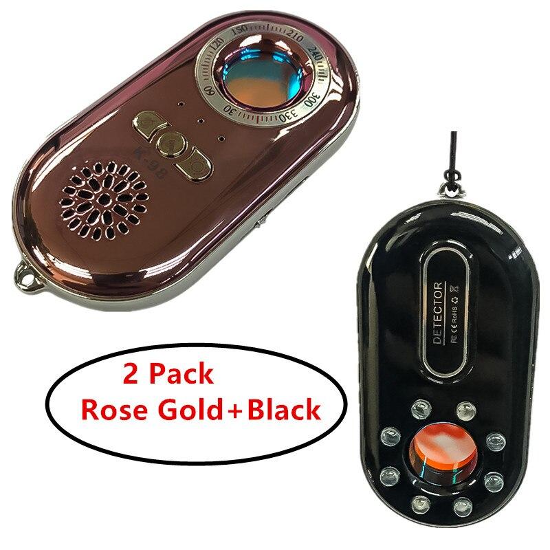 2 Pack Portable Laser IR Light CCD Lens Scanner Hidden Camera Finder Smallest Spy Cameras Lens