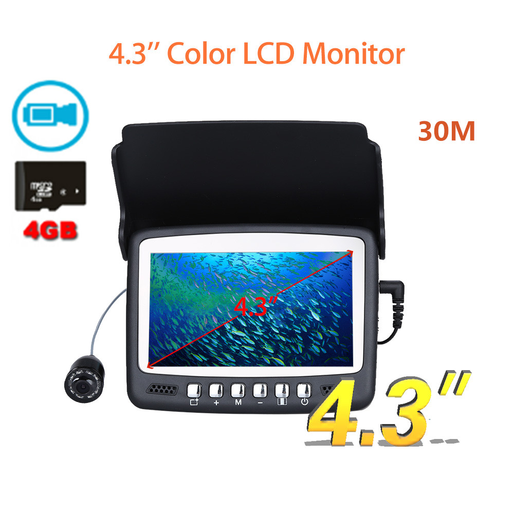 Eyoyo 30m Professional Fish Finder Underwater Fishing Camera 4.3 Color HD Monitor with Recording Function Camera For Fishing