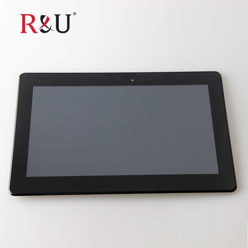 R&U 10.1 LCD Display Panel Screen Monitor Touch Screen Digitizer Sensor Glass with frame For ASUS Transformer Book T100 T100TA new for asus eee pad transformer prime tf201 version 1 0 touch screen glass digitizer panel tools