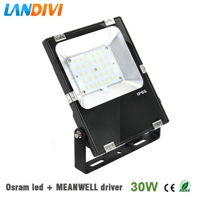 mean well driver led flood light outdoor 30w ultrathin 5years warranty ip65 waterproof spot lighting with - Led Flood Lights Outdoor