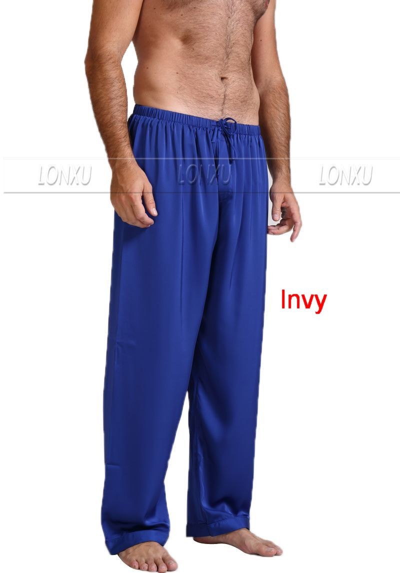 Mens-Silk-Satin-Pajamas-Pyjamas-Pants-Lounge-Pants-Sleep-Bottoms-Free-p-p-S-4XL-Plus (3)