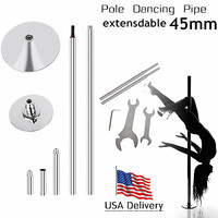 USA GGWG 1 New Kit Dancing Pole Dance Pipe Tube Fitness EquipmentPortable Static Stripper Spinning Exercise