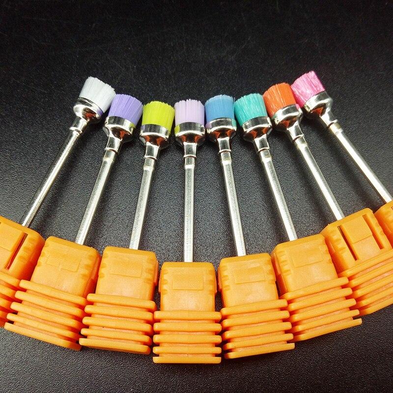 1pcs Təsadüfi rəngli dırnaq qazma fırçası Elektrik 2.35mm Maşın Professional Dırnaq Art qazma Bit Təmizləmə Manikür Matkaları Aksesuarları