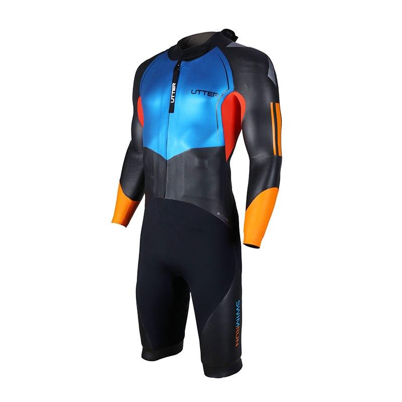 0f3360dcd9 UTTER Men Swimrun Short Sleeve SCS Neoprene Triathlon Wetsuit for Swimsuit  Surfing Outdoor Watersports Sportwear-in Wetsuit from Sports &  Entertainment on ...
