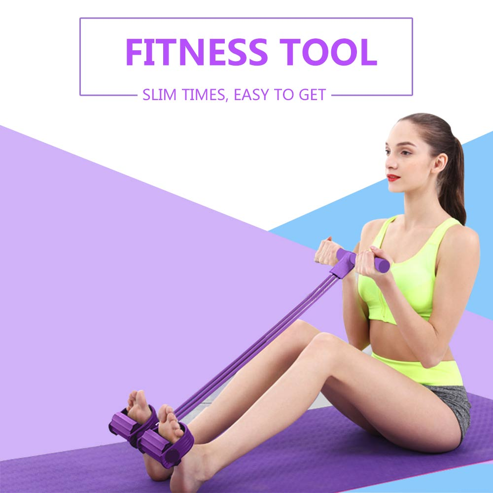 ALI shop ...  ... 32956264694 ... 2 ... Fitness Gum 4 Tube Resistance Bands Latex Pedal Exerciser Sit-up Pull Rope Expander Elastic Bands Yoga equipment Pilates Workout ...