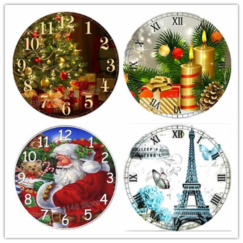 Новый 5D DIY Алмазная картина набор часов Рождество полный квадратный Стразы для вышивки мозаика шитье работа 40x40 см
