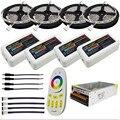 10 M 15 M 20 M DC12V 5050 SMD RGBW RGBWW Levou Flexível Luzes de tira + 2.4G RGBW Led Controlador + adaptador De Energia Kit