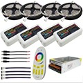 10M 15M 20M DC12V 5050 SMD RGBW RGBWW Led Flexible Strip Lights + 2.4G RGBW Led Controller + Power adapter Kit