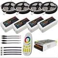 10M 15M 20M DC12V 5050 SMD RGBW RGBWW Led Flexible Strip Lights + 2.4G RGBW Led Controller + Power adapter Kit