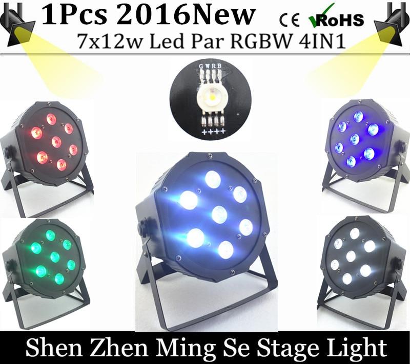 New Seller   7x12w led Par lights  RGBW 4in1 flat par led dmx512  disco lights professional stage dj equipment