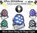 Vendedor novo 7x12 w luzes led Par RGBW 4in1 par plana levou luzes dmx512 disco dj estágio profissional equipamentos