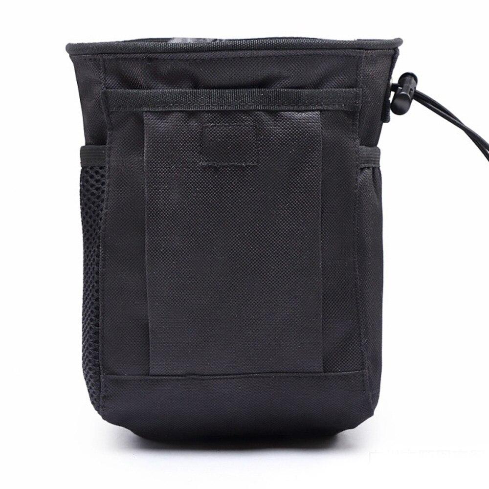 3 цвета Оксфорд ткань поясной мешок Охота Кемпинг Карманный страйкбол DIY мешок для патронов на открытом воздухе шнурок для талии Тактический - Цвет: black