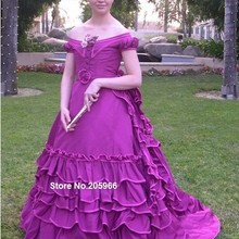 Custom Made-1869 Victorian Evening Ball Gown featured in Nin