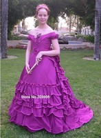 Custom Made 1869 Victorian Evening Ball Gown featured in Nineteenth Century Fashion/Wedding&Bridal dress/Holiday Dress