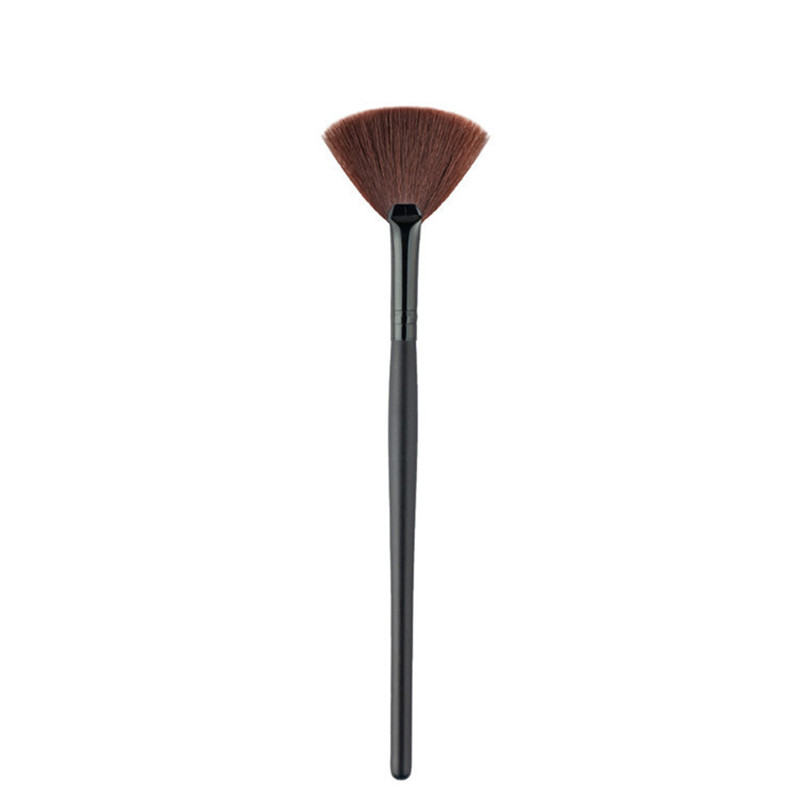1 Piece Novelty Fan Shape Makeup Brushes Portable Foundation Eyebrow Eyeshadow Brush Makeup Brush Cosmetic Beauty Tool in Eye Shadow Applicator from Beauty Health