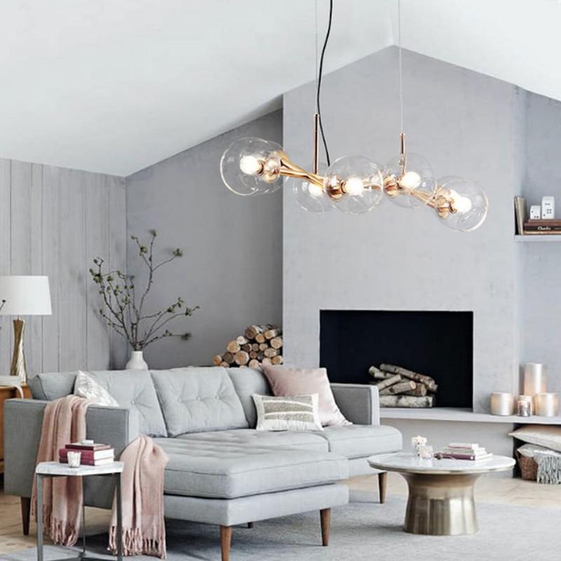 8 Lights Nordic New Style Pendant Light Loft DNA Lindsey Glass Villa Dinging Room Light Bar Coffee Shop Light Free Shipping